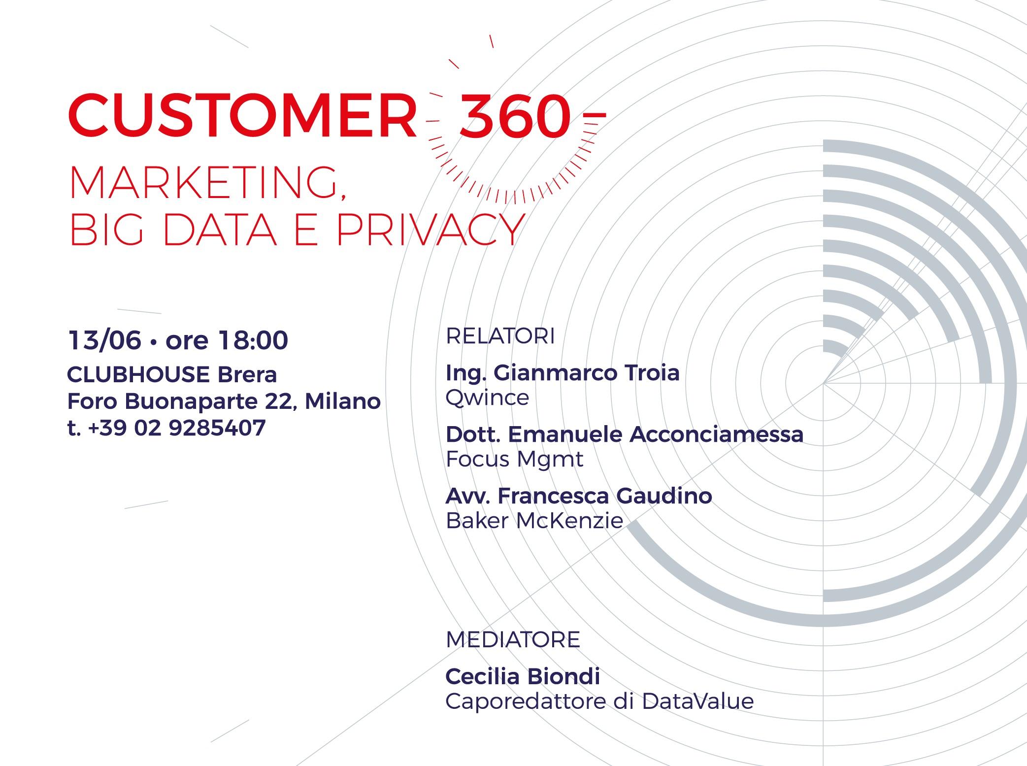 Customer 360 – Marketing, Big Data e Privacy