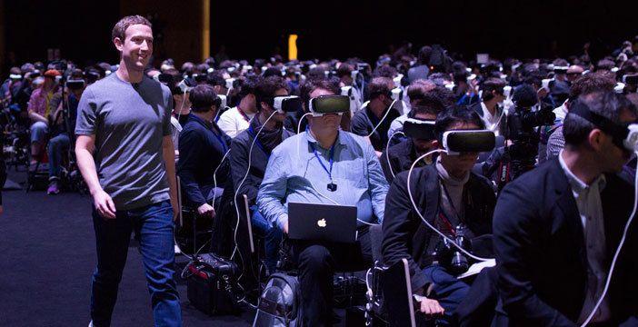 Mark Zuckerberg alla presentazione di Samsung Galaxy S7 all' MWC nel 2016